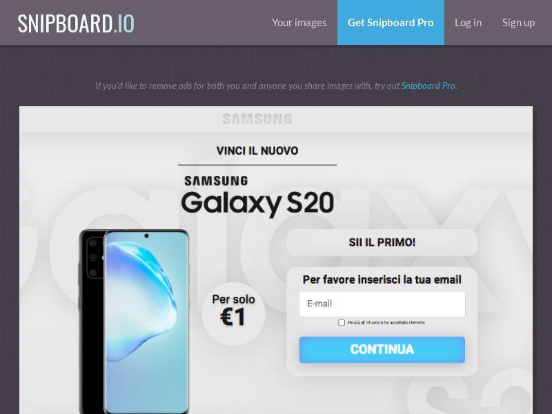 MagnificentPrize - Samsung Galaxy S20 IT - CC Submit