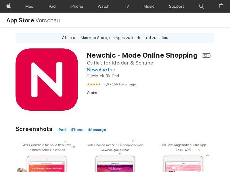 Newchic - IOS - DE (CPS=purchase)