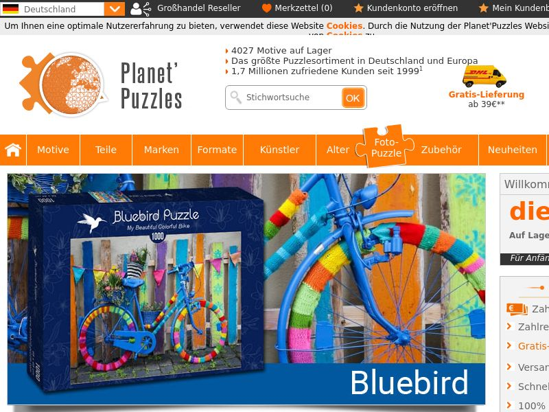 Planet Puzzles (AT,DE,LI,LU,CH), [CPS], House and Garden, For children, Sport & Hobby, Sell, shop, gift