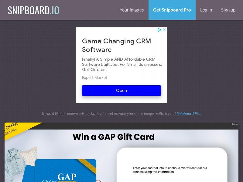 YouSweeps - GAP Giftcard US - SOI