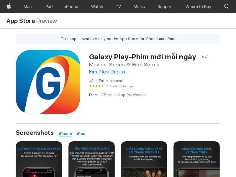 Galaxy Play - iOS VN (CPE=subscription )