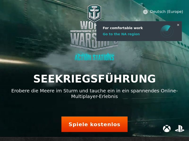World of Warships - Free to Play | AT DE CH