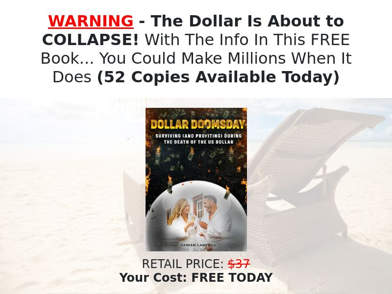 Free Dollar Doomsday eBook [US] (Email,Social,Banner,Native,Push,SEO,Search) - CPA