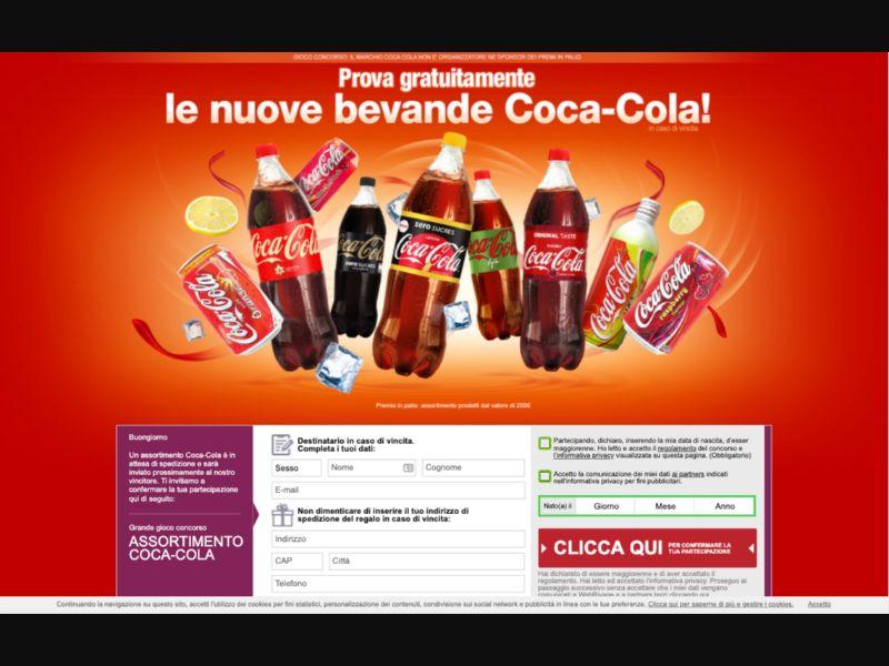 CocaCola - CPL SOI - IT - Sweepstakes - Responsive