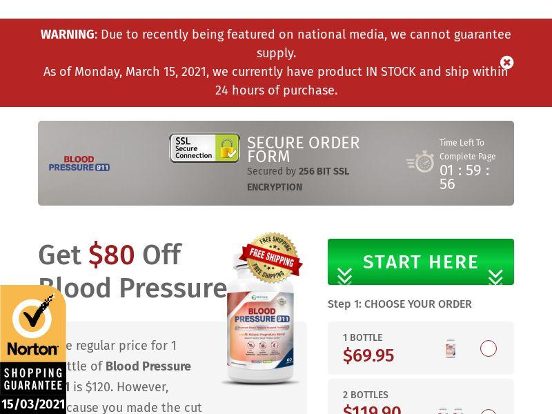 Blood Pressure 911 SS - US/UK/CA/AU/NZ