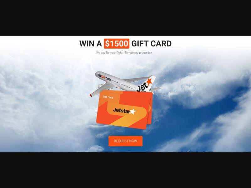 Jetstar $1500 Flight Voucher - AU - CPL - Incent Allowed