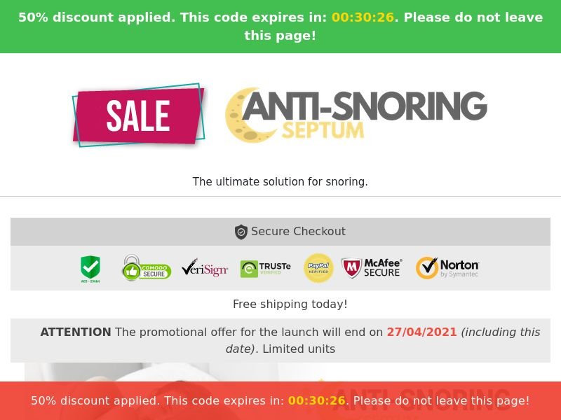 Anti Snoring Septum - Snoring Solution (PPS) - eCommerce - WW