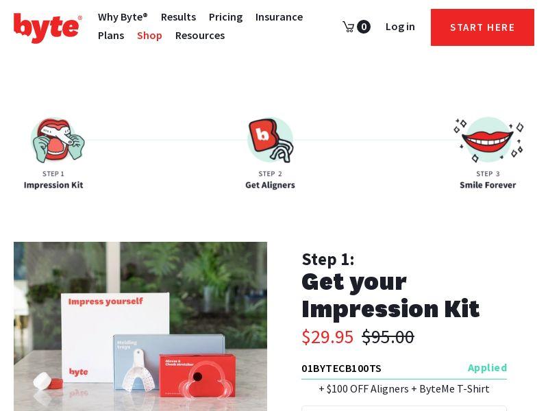 Byte Teeth Impression Kit (PPS) - Beauty - US
