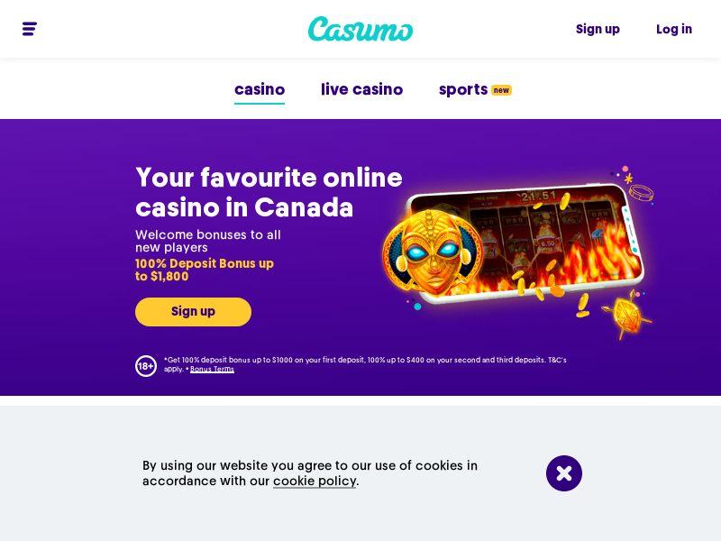 Casumo.com Casino CPA - CA, FI & NZ