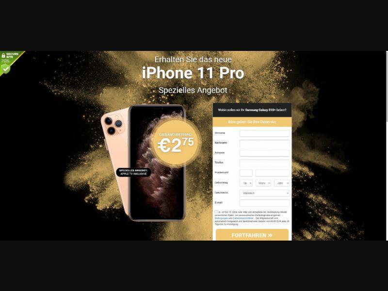iPhone 11 Pro - Sweepstakes & Surveys - Trial - [DE]