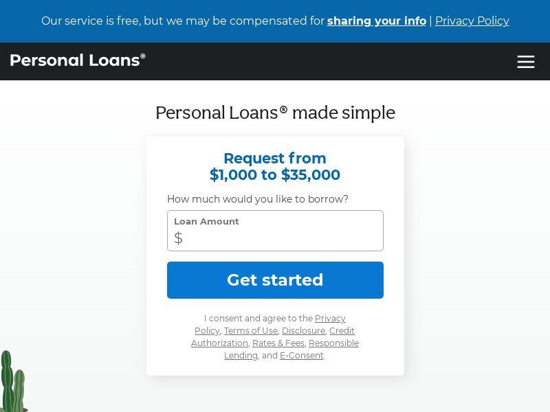 Personalloans.com - Revshare | US