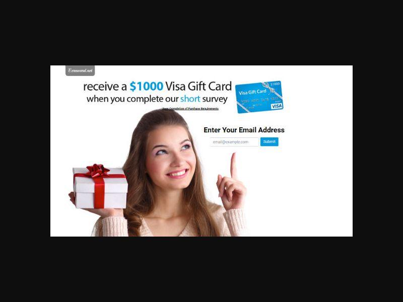 $1000 Visa Gift Card (US)