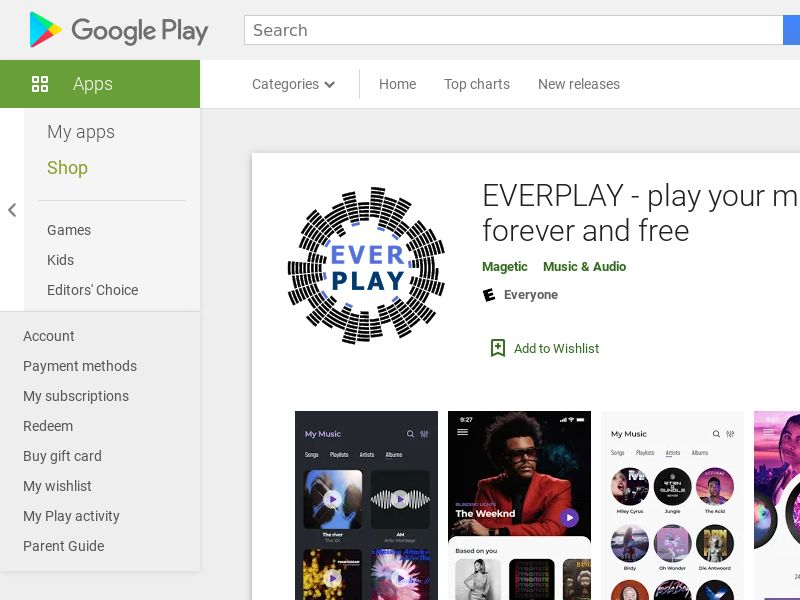 Everplay Music - Android (SI) (CPI) (GAID) (App Name) (Incent)