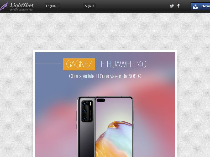 Portal Leads - Huawei P40 (FR) (CPL) (Personal Approval)