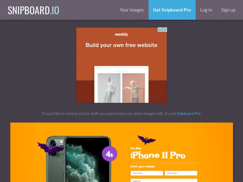 BigEntry - iPhone 11 Pro v3 Halloween NZ - CC Submit