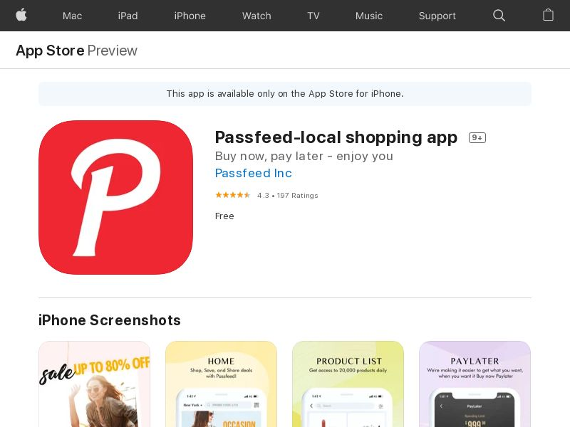 US - Passfeed-local shopping app - - (SCAPI)