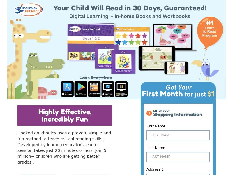 Hooked on Phonics (US) (CPS) (Display) (Personal Approval)