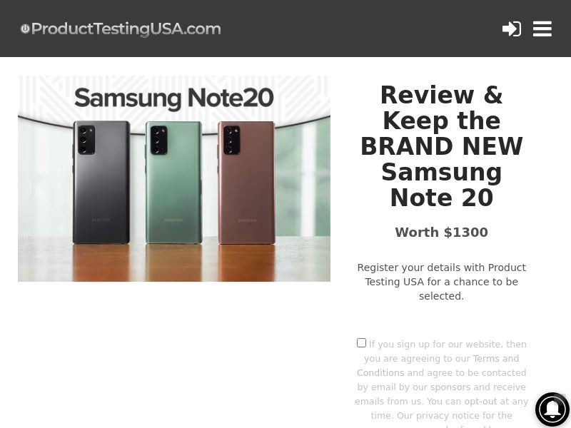 Product Testing USA - Review & Keep The Samsung Note 20 [US]