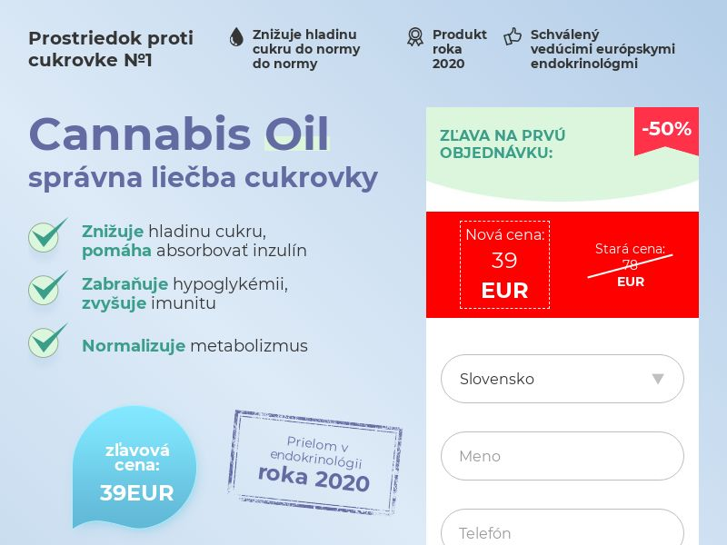 Cannabis Oil SK (diabet)