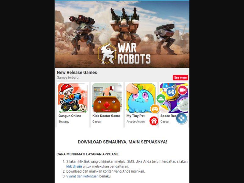War Robots - 1 Click - ID - XL - Online Games - Responsive