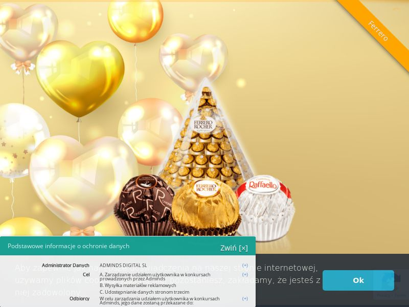 Ferrero Hamper - UK (GB), [CPL], Lotteries and Contests, Single Opt-In, paypal, survey, gift, gift card, free, amazon