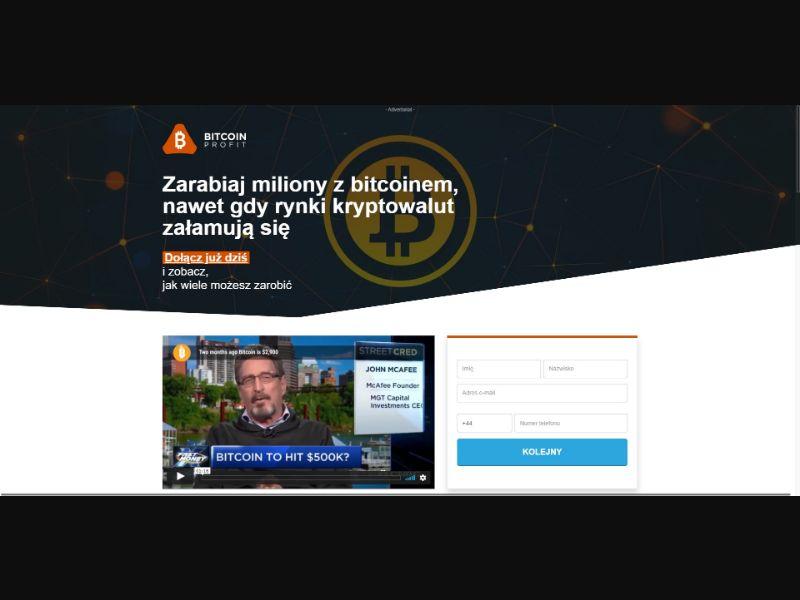 Bitcoin Profit - £250 min CTC - VSL - Crypto - SS - [PL]