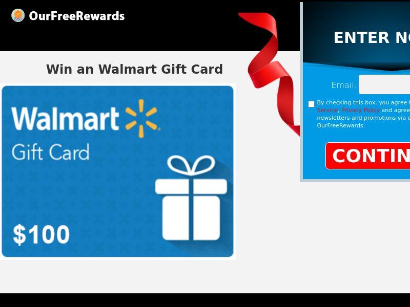 OurFreeRewards.com Walmart Gift Card CPL US [SOI]