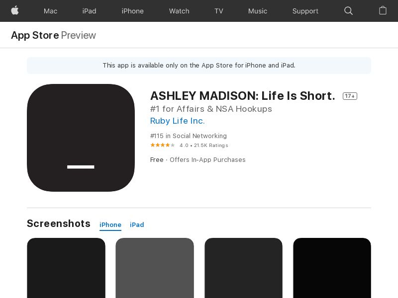 Ashley Madison iOS FR (CPS=purchase) <<*PENDING*PRIVATE OFFER*>>