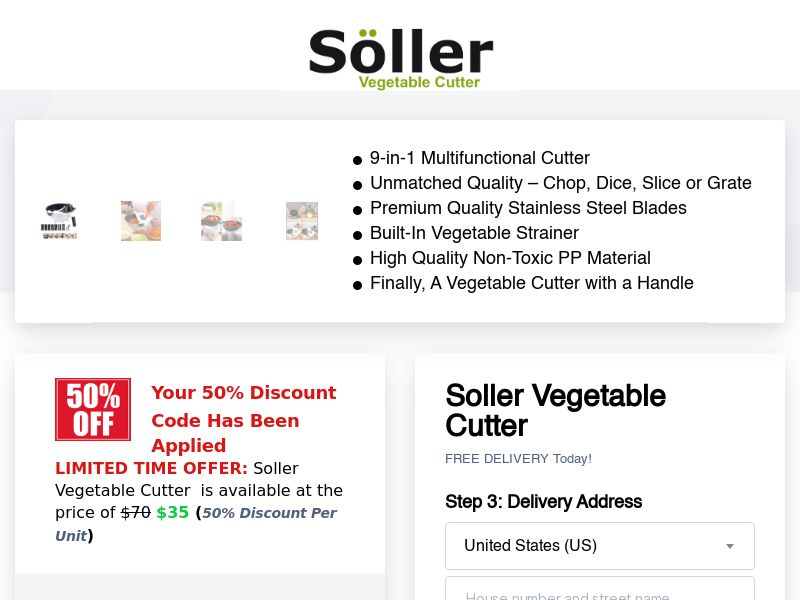 Soller - Premium 9-in-1 Multifunctional Cutter - CPA - [INTERNATIONAL]