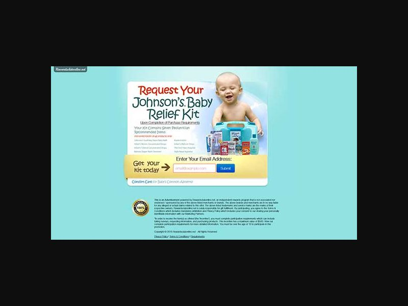 Johnson's Baby Relief Kit - One Field
