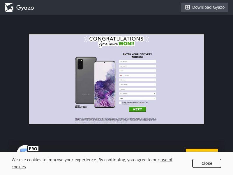 (13190) [WEB+WAP] Samsung Galaxy S20 - US - CC