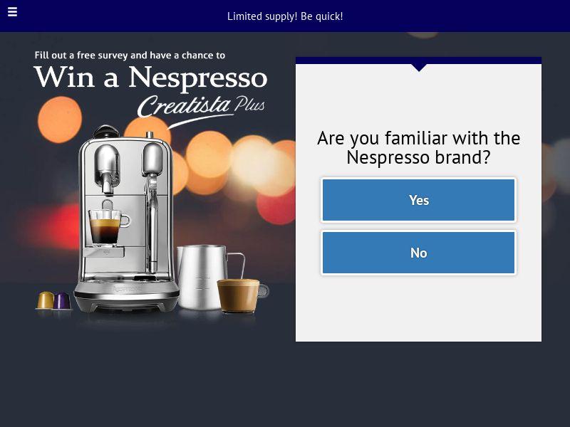 Win a Nespresso machine [AU] |SOI| Responsive