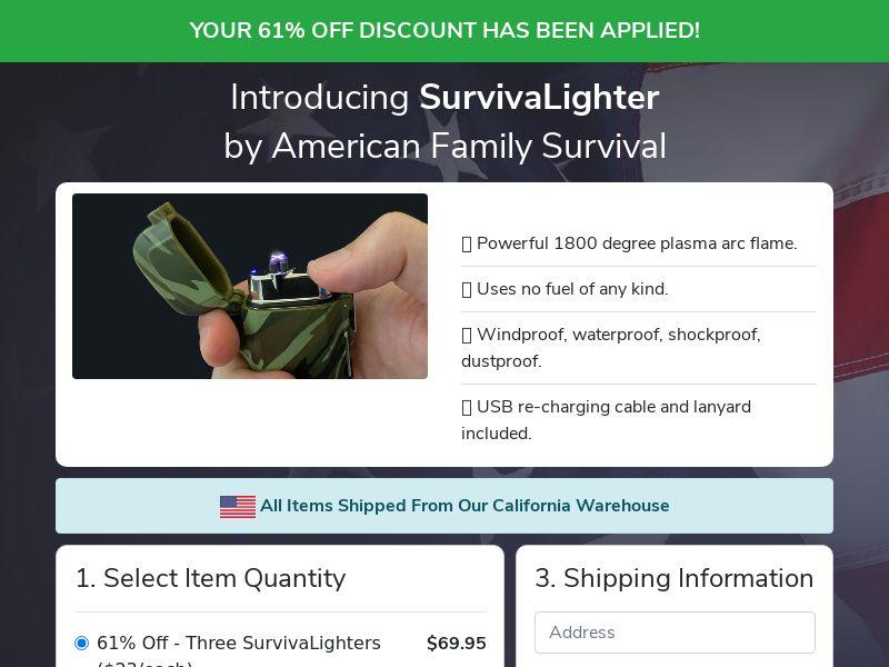 SurvivaLighter (PPS) - Survival/eCommerce - US