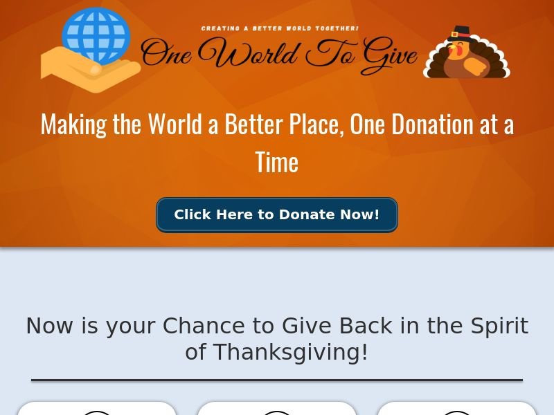 OWTG Thanksgiving Charity