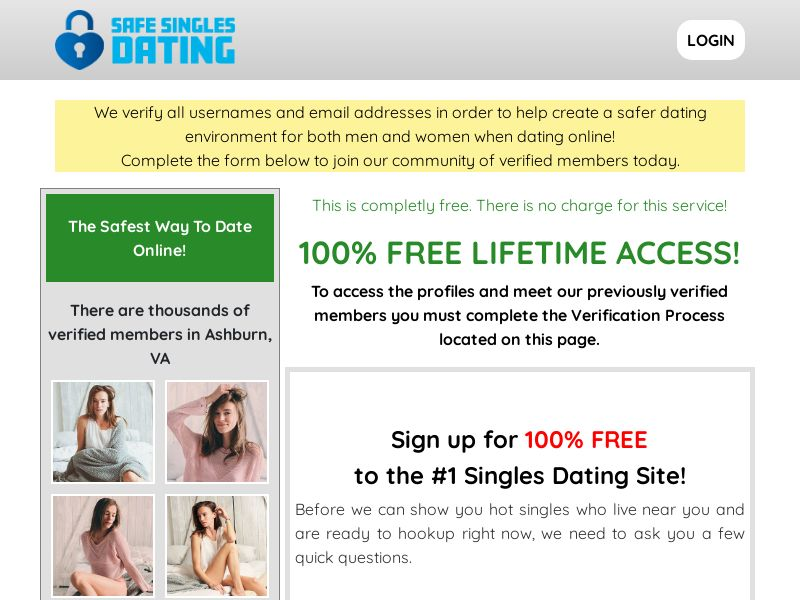 SafeSinglesDating (US, CA, UK, AU, NZ) (Trial)