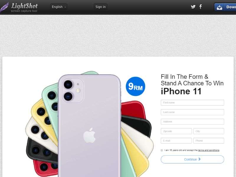 PremiumDeals iPhone iPhone 11 v2 (Static LP) (Sweepstake) (CC Trial) - Malaysia [MY]