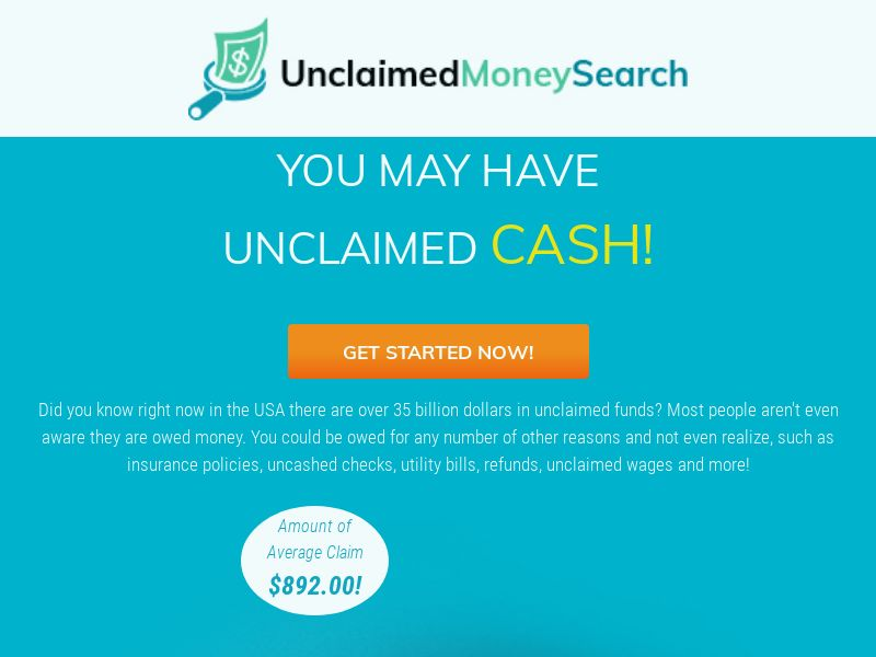 Unclaimed Money Search (CPL) - Email Submit - US