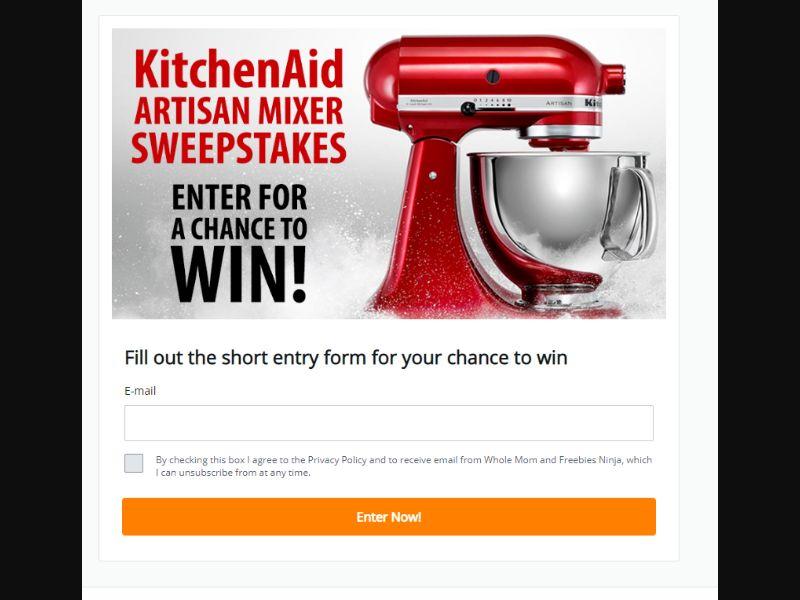 KitchenAid Artisan Mixer Sweepstakes US | CPA