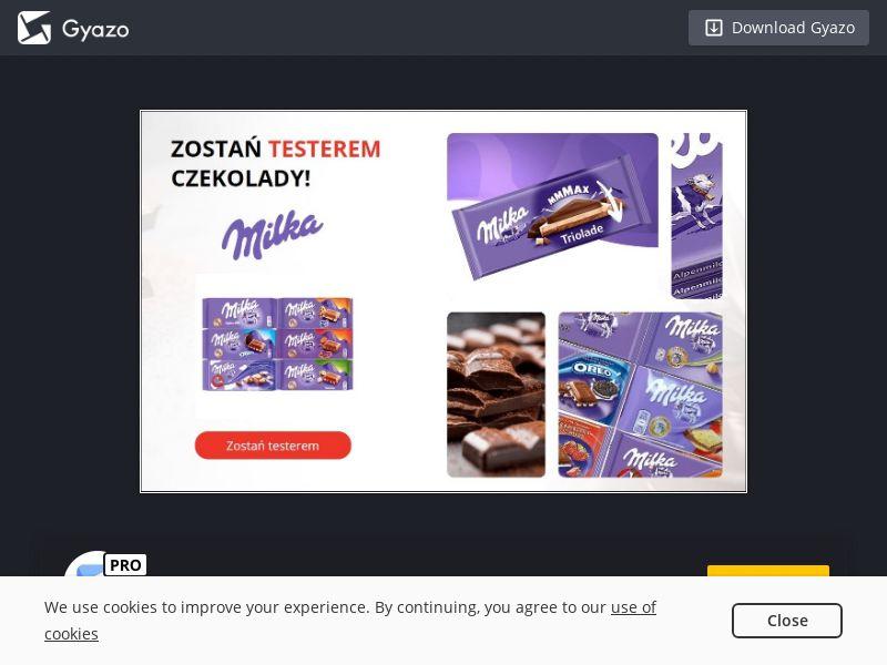 Chocolate Tester Milka (PL) (CPL)