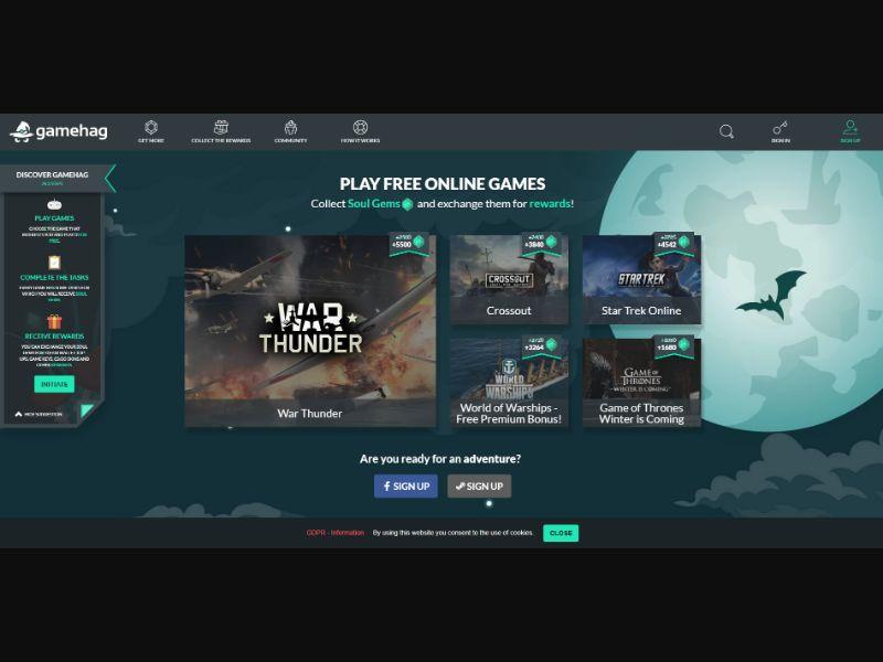 Gamehag - Play Games & Earn Rewards - Tier WW Desktop CPE | International
