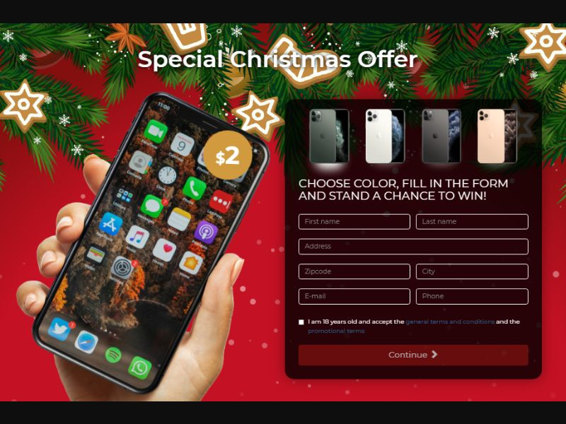 Christmas iPhone 11 Pro International [AT,DE] - CC Submit