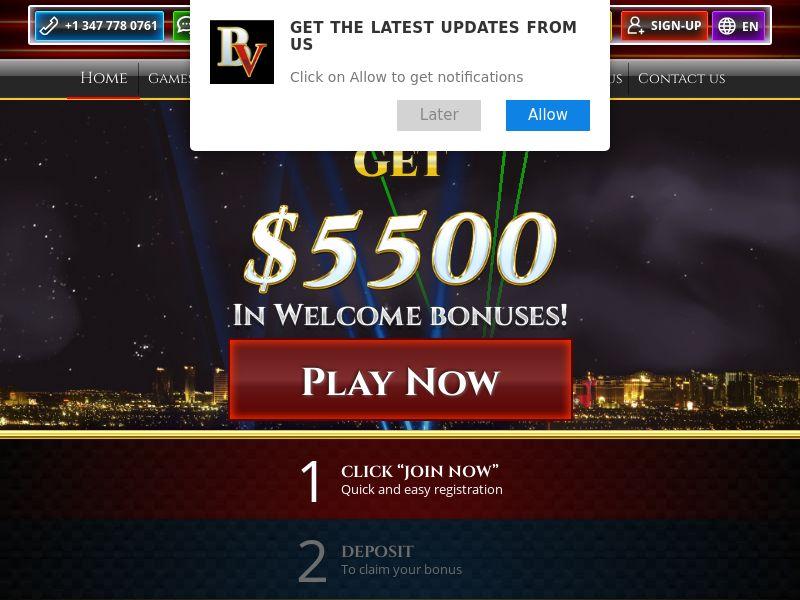 BoVegas Casino   Minimum FTD (no baseline)   Global