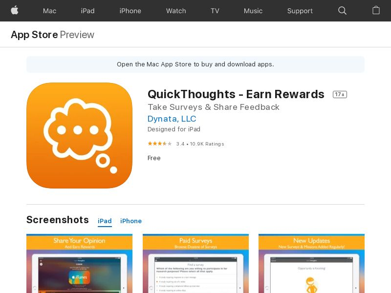 NZ - QuickThoughts: Take Surveys Earn Gift Card Rewards- iOS10.0+ - INCENT *CPE <<*PENDING*PRIVATE OFFER*>>