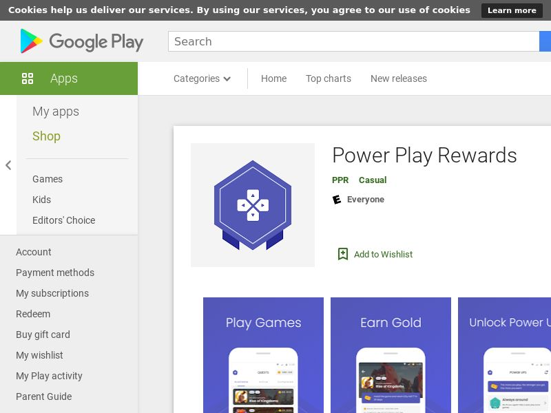 Power Play Rewards Android CPE