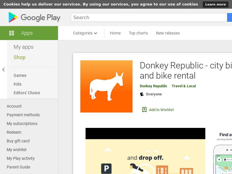 Donkey Republic Android - DE City Targeting GAID