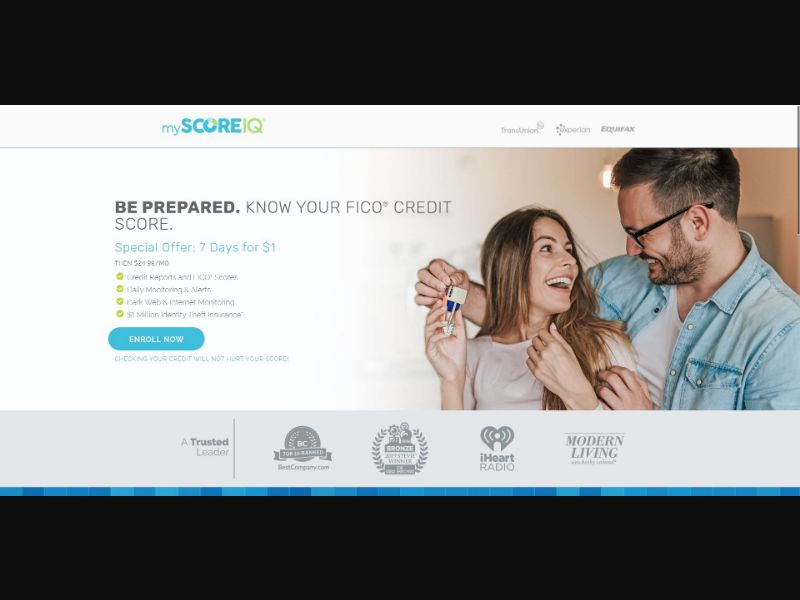 MyScoreIQ - Credit Reports & Repair - Trial - [US]
