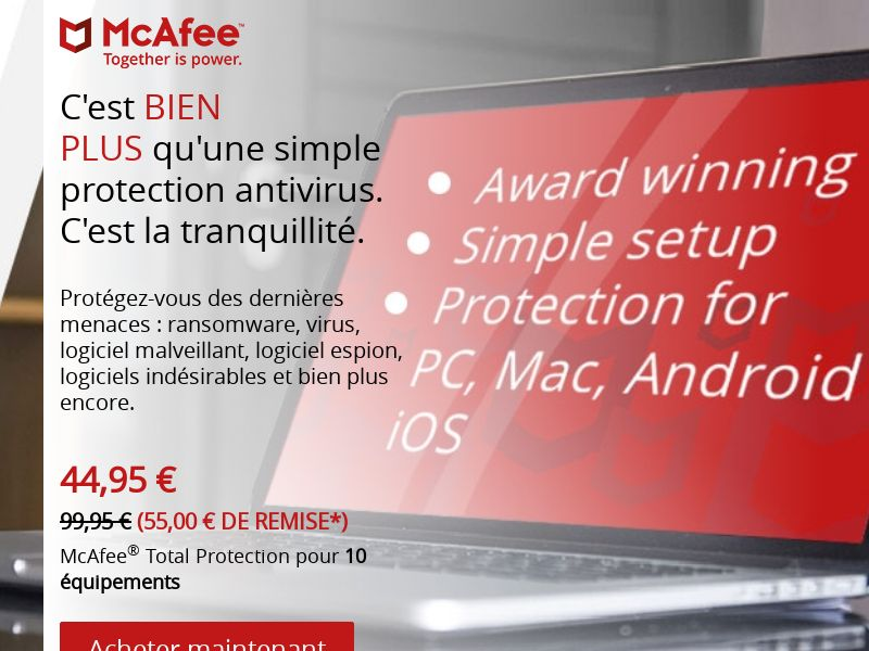 McAfee Anti-Virus - CPS - FR - Non-Incent (?*¿)