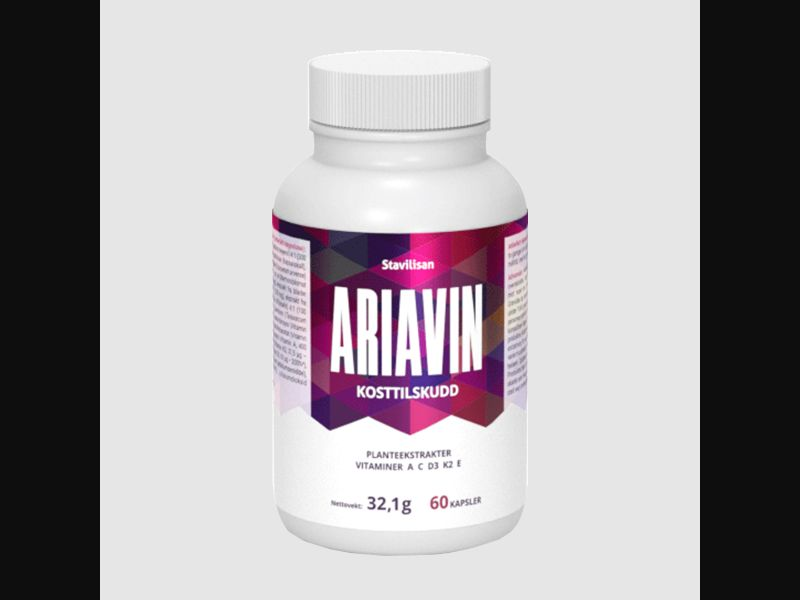 ARIAVIN – CH – CPA – joint pain – capsules - COD / SS - new creative available