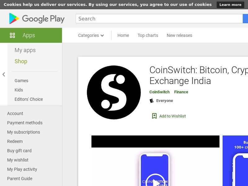 CoinSwitch: Bitcoin, Crypto|IN|Android|Direct