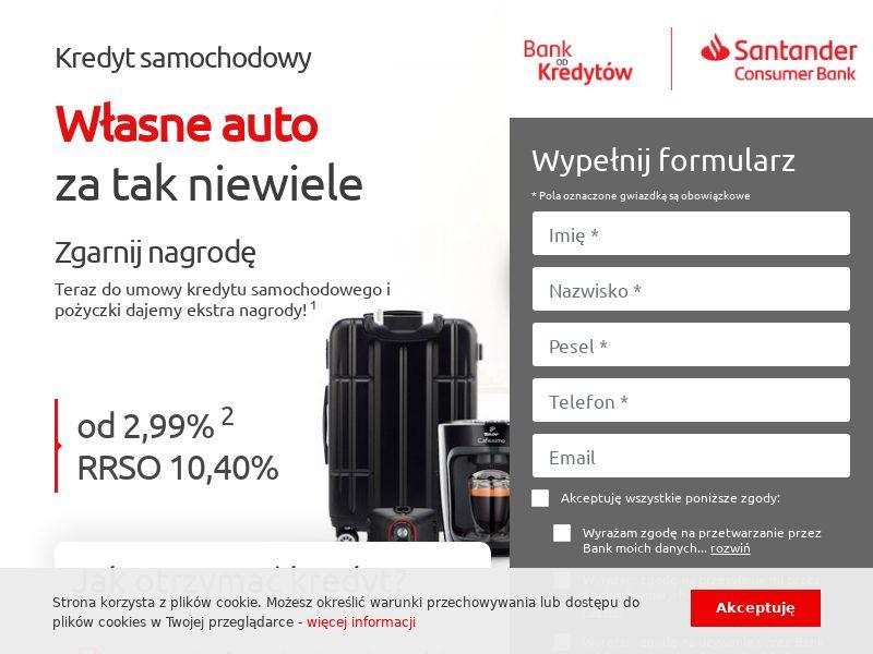 Santander - kredyt samochodowy (PL), [CPA], Business, Credit, Cash credit, Credit Approval, loan, money, credit